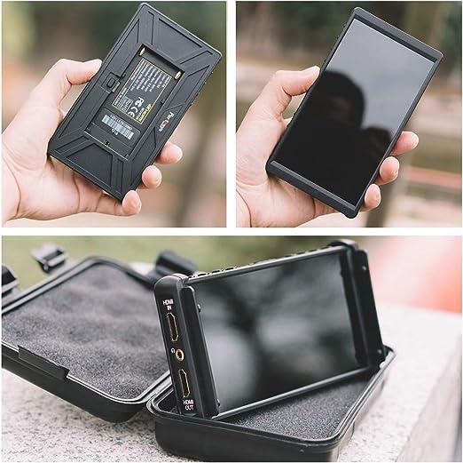 Portkeys P6-Kamerafeldmonitor 5,5-Zoll-Vollbild-3D-Lut 1920 x 1080 IPS-Peaking-Focus-Videoassistent 4K-HDMI-Wellenform-W/ärmeableitungslayout f/ür Videografen