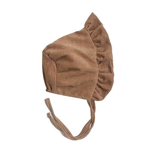 HYLH 0-9 Meses Sombreros de Pana para bebés recién Nacidos Gorras ...