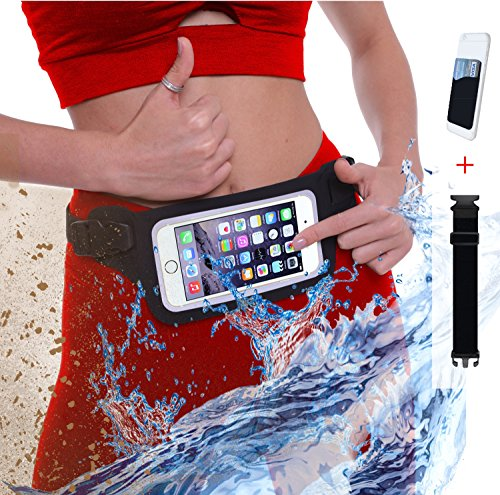 ⚡New Waterproof Running Belt Fanny Pack for iPhone 6, 7, X, 8, 8 Plus and Android Samsung S7/8/9 – W/Touchscreen Window – IPX8 Rated Waist Bag for Fitness, Travel, Beach, Kayaking, Swimming and more! For Sale