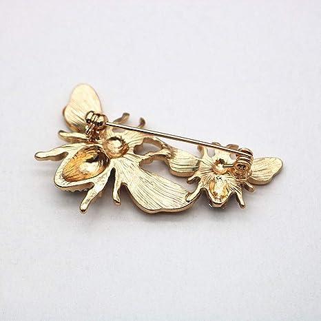 CADANIA Abeille Broche /émail Corsage D/écoration Bijoux Insigne De Insigne Pins Insigne Strass Jaune Broche Antique