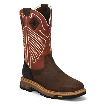 Amazon.com: Justin Mens Commander-X5 Steel Work Boots: Shoes