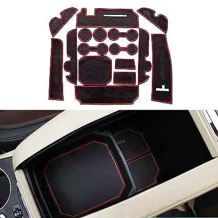 Accesorios de ajuste personalizado para portavasos y forro de puerta para T oyota Highlander 2015 (