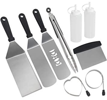 9PC Juego de espátulas para parrilla - Kit de herramientas ...