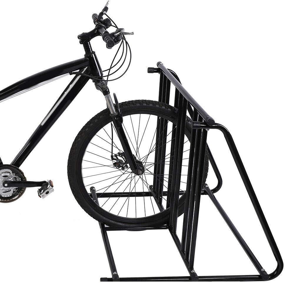MANOCH6 자전거 자전거 스탠드 주차 차고 스토리지 주최자 사이클링 랙 물자:철 크기(LWH):대략. 88.5 74.5 72 센치메터 | 34.8 29.3 28.3IN 무게:약.5 센치메터 | 34.8 29.3 28.3IN 7.6 키로그램 색상:블랙
