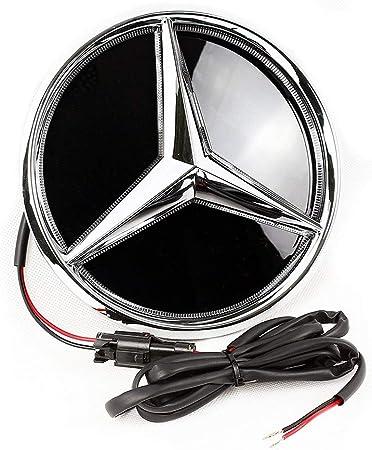 Led Emblem Für Benz Frontgrill Abzeichen Beleuchtet Logo Hood Star Glc Gle Gls Serie Weißlicht Auto
