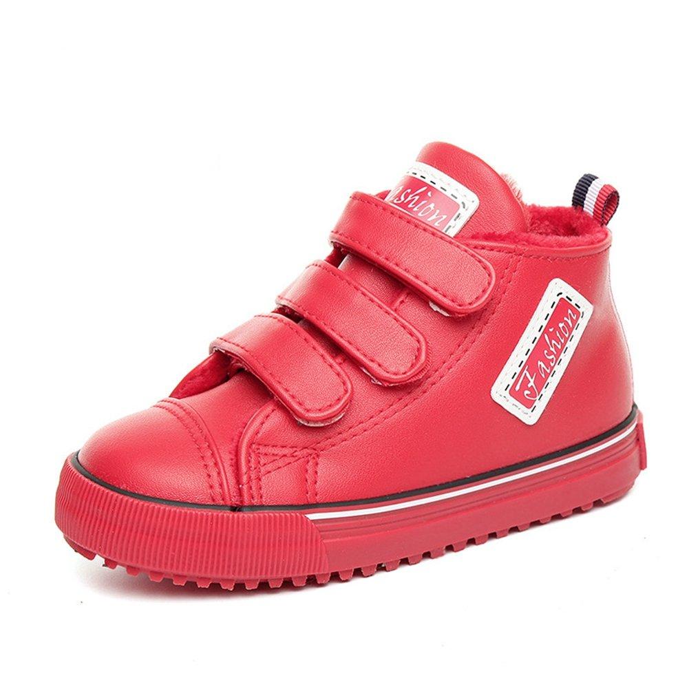 U-MAC Kid's Shoes Boys & Girls Sneakers High-Top Warm Velcro Strap Shoes(Toddler/Little Kid/Big Kid) by U-MAC