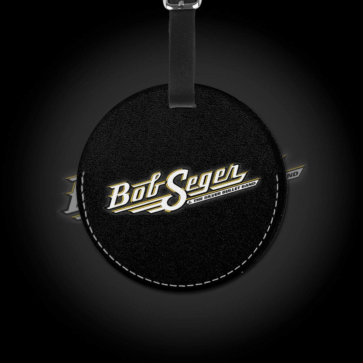 Bob Seger The Silver Bullet Band Travel Leather Round Luggage Tags Suitcase Labels Bag