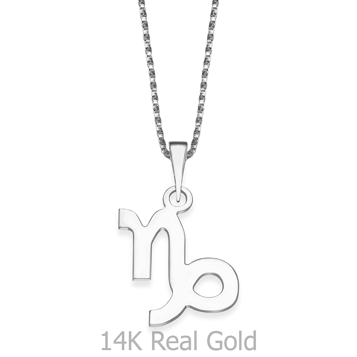 14K Yellow Gold Aries Pendant With Necklace