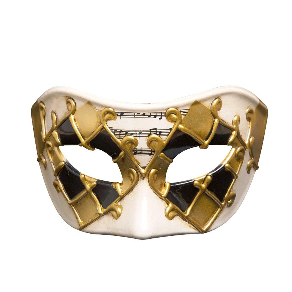Rehot Masquerade Masks for Men Vintage Venetian Halloween Christmas Party Masks (Gold 5)