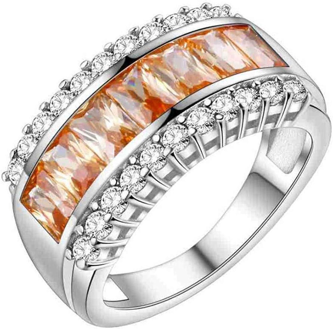 NA Fant¨¢Sticos Anillos de Acero Inoxidable de Color circonita de Diamantes de Piedra para Mujer