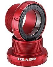 AEROZINE BSA30 Bottom Bracket Bike BB for BSA Frame to fit 30mm Crank Red (English Thread)