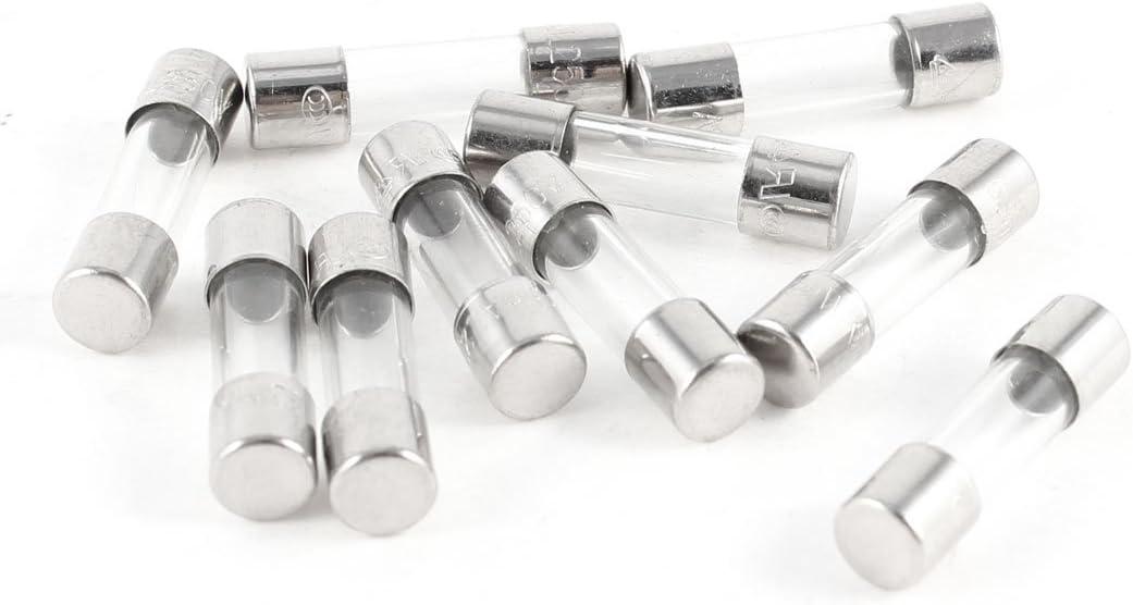 10 Pcs Fast Blow Type Glass Tube Fuses 5x20mm 250V 50mA