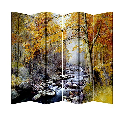 Toa 6 Panel Folding Screen Canvas Divider- Autumn River