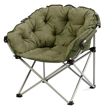 Army Green Moon Chair Creative Lazy Suede Fabric Sillas de ...