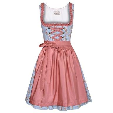 Marjo Mode Traditionell Dirndl Aleksa Mini Trachten Damen In Blau xBoCed