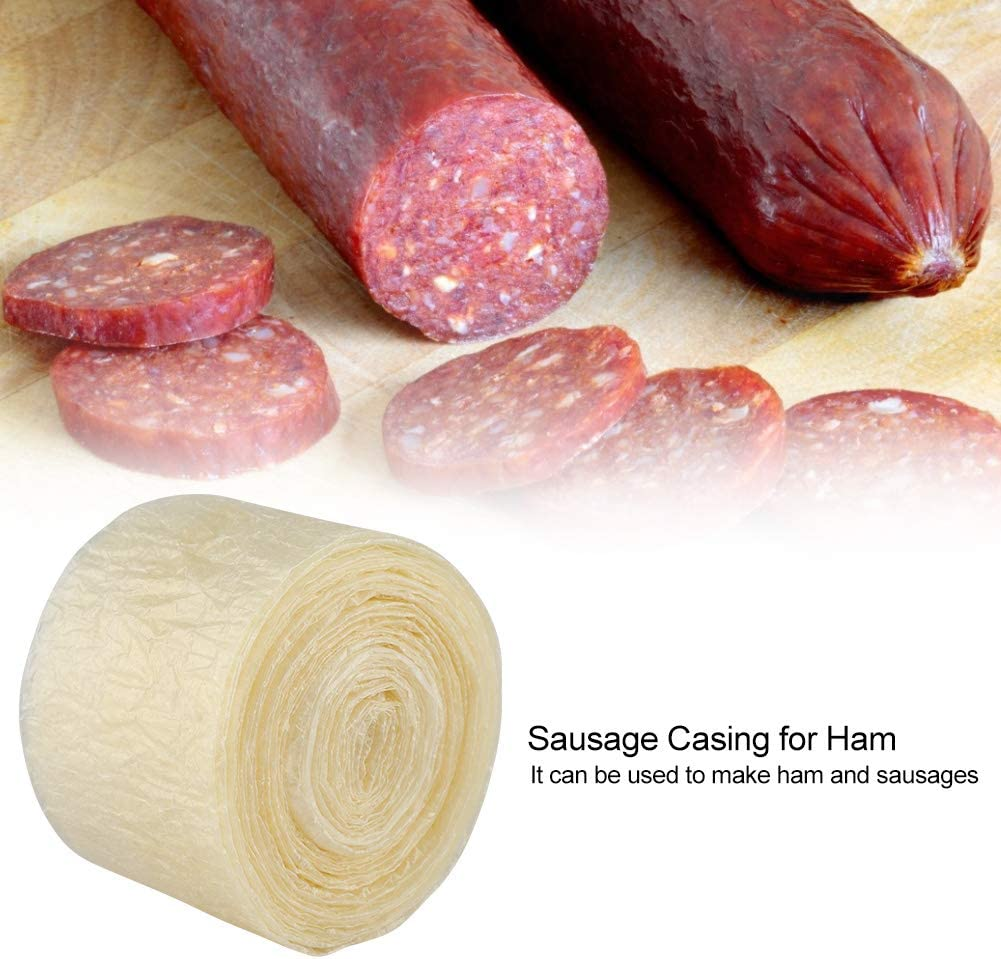 2-layered 8 Meters Edible Drying Sausage Casing for Flavorous Homemade Sausages Ham