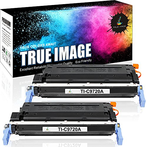 TRUE IMAGE Compatible Toner Cartridge Replacement for HP C9720A HP Color LaserJet 4600 4600DN 4600DTN 4600HDN 4600N 4610N 4650 4650DN 4650DTN 4650HDN 4650N 9000 Yield 2 Pack Black (Laser Printer 4600dn)