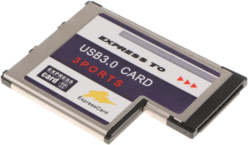 3Port USB3.0 Express Card ExpressCard 54mm Hidden Adapter for Laptop FL1100
