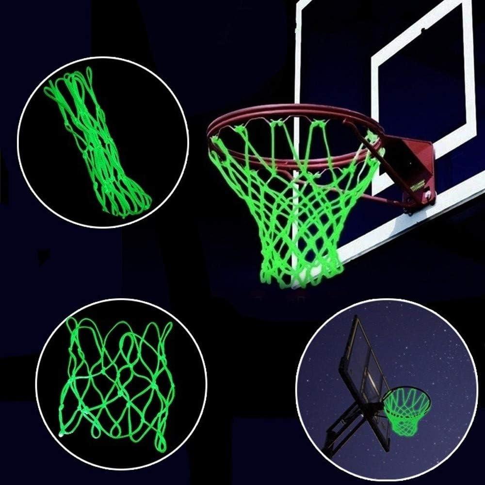 Night Glowing Luminous Basketball Net Nylon Braided Professional Basketball Net