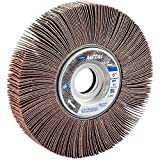Norton Metalite R265 Abrasive Flap Wheel, 1'' Arbor, Round Hole, Aluminum Oxide, 6'' Dia., 1'' Face Width, Grit 80, 6200 Max RPM (Pack of 1)