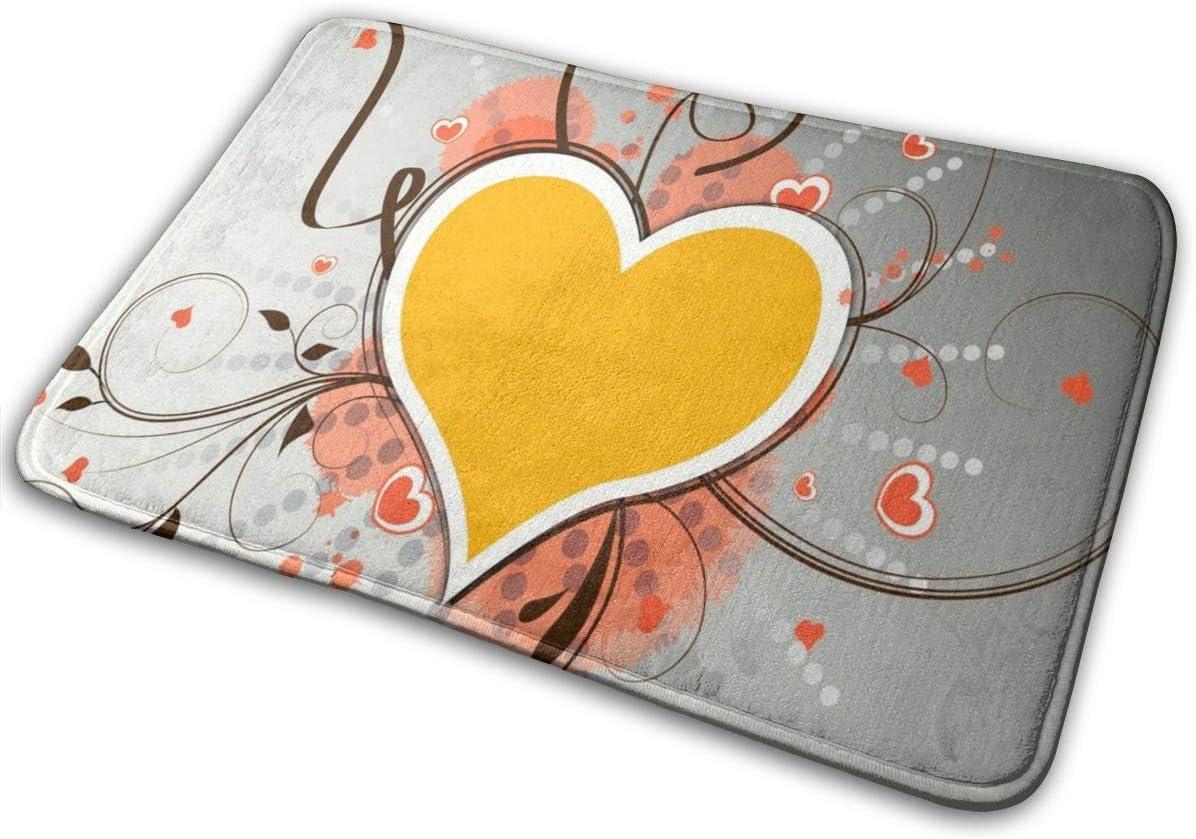 N C Door Mats Hearts Love Colorful Wallpaper Non Slip Outdoor Door Mat Entrance Carpet Home Decoration 15 7 X23 5 Customized Amazon Co Uk Kitchen Home