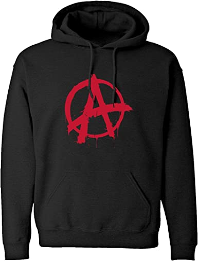 Anarchy Black Adult Hoodie