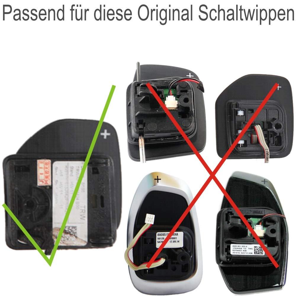 Overdrive-Racing S Tronic Dsg Alu Schaltwippen Verl/ängerung schwarz A3 S3 RS3 A4 S4 RS4 A5 S5 Q5 A6 S6 RS6 Q7 A8 S8 R8 TT S RS Typ-B 2 St/ück