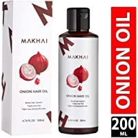 Makhai Onion Hair Growth Oil With 21 Vital ingredients and Essential Oils For Women and Men, 200 ml