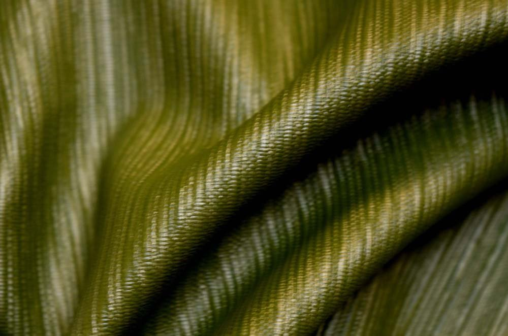 REMNANT Textured Green Vinyl Fabric 55 inches x 1.25 yards