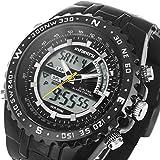 Mens Big Face Military Digital Sport Wrist Watch