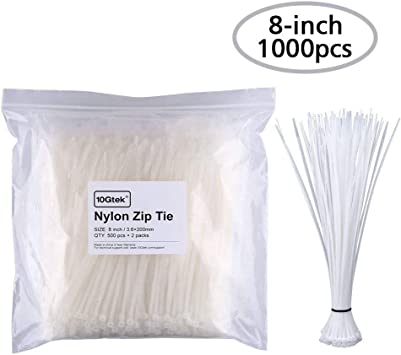 Details about  /Cable Zip Ties 60mmx1.8mm Self-Locking Nylon Tie Wraps White 1000pcs