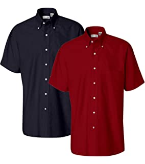 a09203ceeec UltraClub Men s Classic Wrinkle-Free Short-Sleeve Oxford 8972 at ...