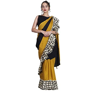 7aa79cced9d4de Image Unavailable. Image not available for. Colour  SareeShop Women s  Georgette Ruffle Pattern Saree with Blouse ...