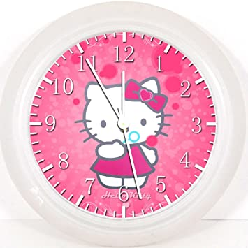 Pink Hello Kitty Wall Clock 10u0026quot; Will Be Nice Gift And Room Wall Decor  X20