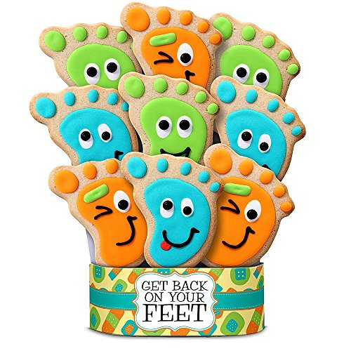 Shari's Berries - Get Back On Your Feet 9 Piece Cookie Bouquet - 9 Count - Gourmet Baked Good Gifts