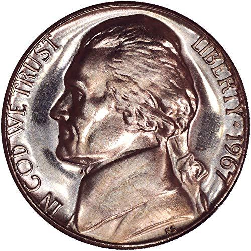 1967 Jefferson Nickel SMS (Special Strike) 5C Brilliant Uncirculated (Ngc Nickel Mint Jefferson)