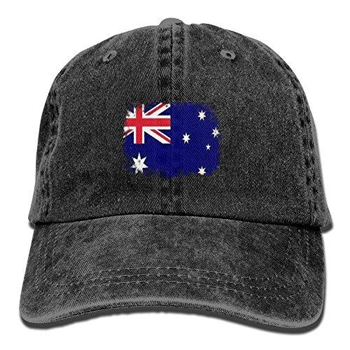 Hip Hop Costumes Australia (JD-JIA Denim Baseball Caps Flag Of Australia Adult Vintage Washed Cotton Sport Outdoor Sports Hats)