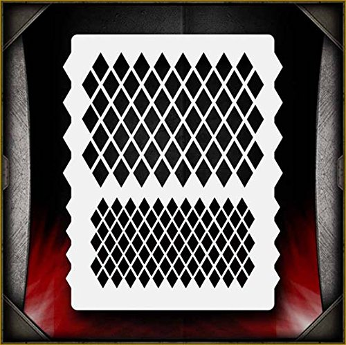Diamond Pattern 1 AirSick Airbrush Stencil Template