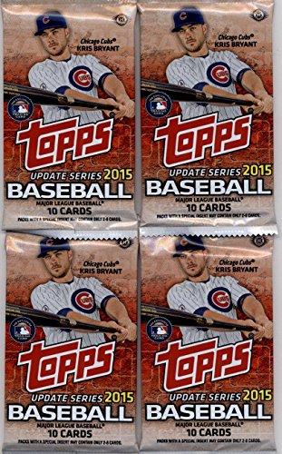 Baseball Hobby Pack - 4 (Four) Packs - 2015 Topps Update Baseball Hobby Packs (10 Cards per Pack)