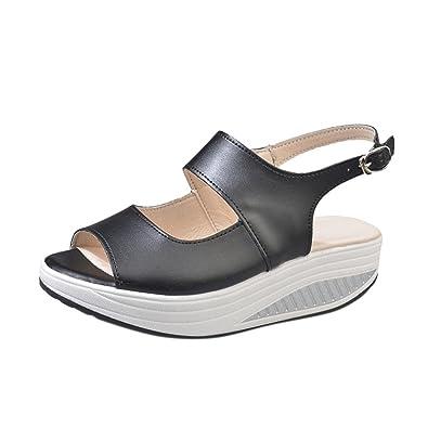 Sandalen Damen Shake Shoes Sommer Sandalen Fisch Mund Dicke Untere High Heel Schuhe