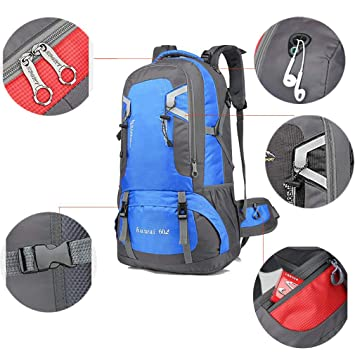 f39daafd25 Image Unavailable. Image not available for. Color  60L Hiking Backpack  Waterproof Backpacking Outdoor Sport ...