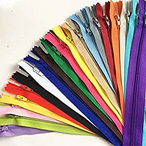 WKXFJJWZC 40pcs Nylon Coil Zippers Tailor Sewer Craft 50CM (20 Inch) Crafter's &FGDQRS ( 20/color) (MIX)