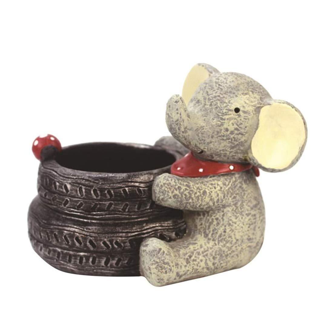 Kawaii Creative Decorative Lovely Elephant Flower Pot Flowerpot Childrens Room Desktop Decor Flower Vase Home Decoration