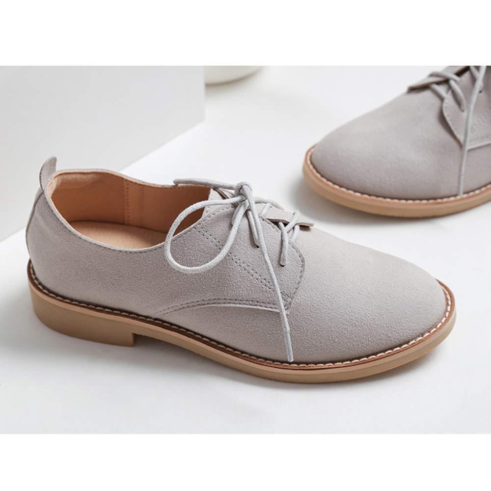 PLNXDM Damen Leder Stiefel Stiefel Stiefel Und Stiefeletten Wildleder Spitze Retro Stiefel Oxford Schuhe Brock Martin Stiefel a02800