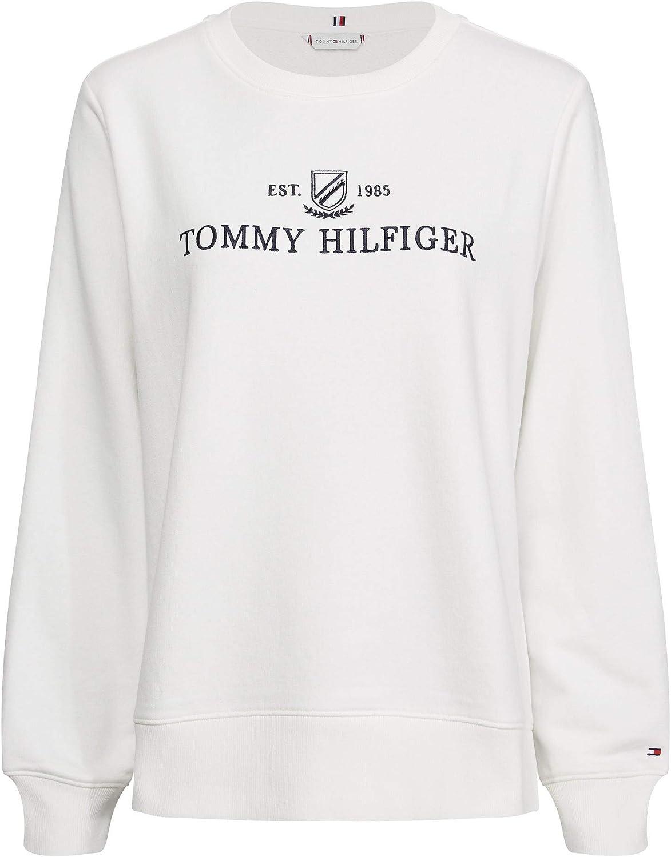 Tommy Hilfiger Kizzy C nk Sweatshirt LS Felpa Donna: Amazon