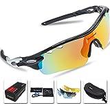 Gafas de sol polarizadas deportivas para hombre y mujer de Victgoal con 5 lentes intercambiables,