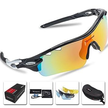 Gafas de sol polarizadas deportivas para hombre y mujer de Victgoal con 5lentes intercambiables