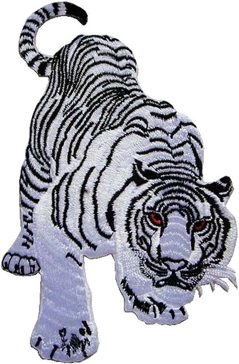 Big Panthera Tigris Tiger Biker Jeans Embroidered Iron on Patch Free Postage