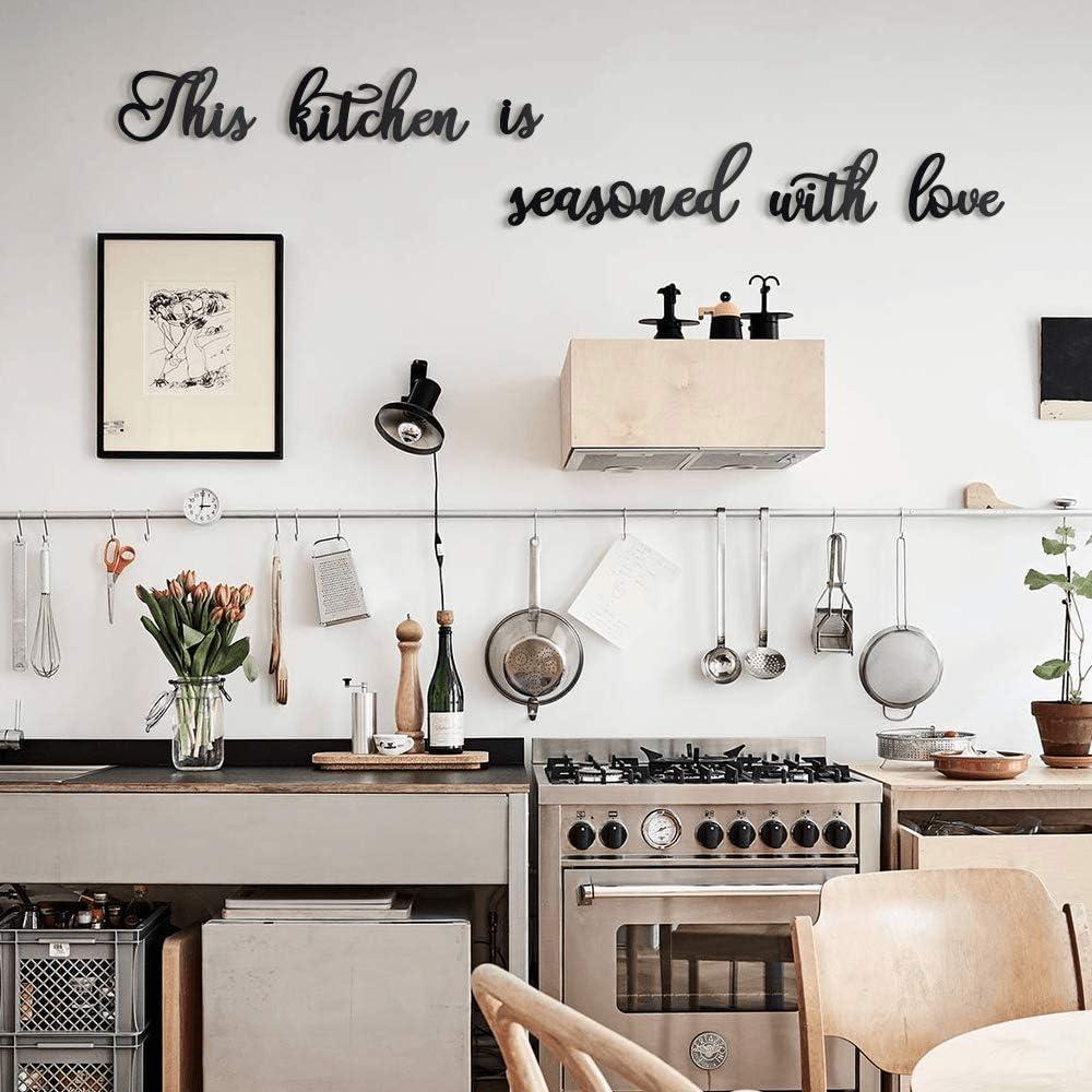 "Décoration Murale De Cuisine ""This Kitchen is Seasoned with Love"