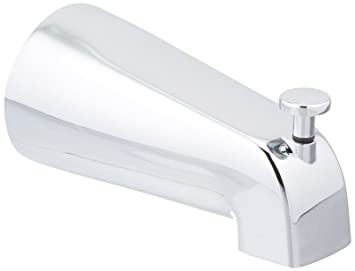 Chrome 4-1//8 In Max Nipple 1//2 In Fnpt Inlet DELTA FAUCET 1076160PK Delta Universal Diverter Tub Spout
